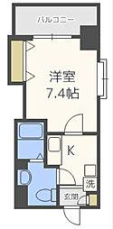 Osaka Metro中央線 阿波座駅 徒歩4分の賃貸マンション 7階1Kの間取り