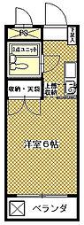 アレイ南大沢[202号室]の間取り
