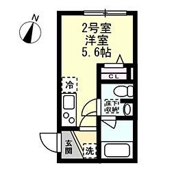 ベイルーム阪東橋[1階]の間取り