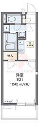 泉北高速鉄道 泉ヶ丘駅 徒歩17分の賃貸マンション 1階1Kの間取り