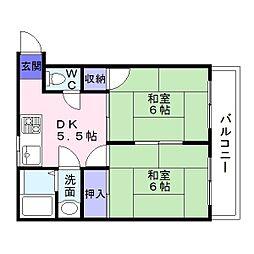 仲谷マンション[2階]の間取り