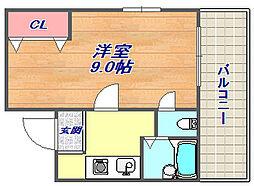 KYマンション[2階]の間取り