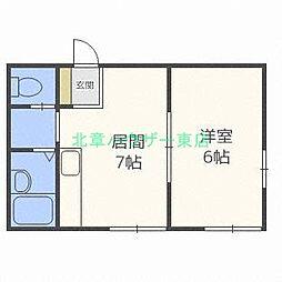 北海道札幌市東区北二十条東2丁目の賃貸マンションの間取り