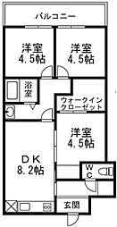 若松台中央マンション[4階]の間取り