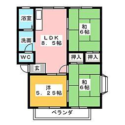 サンシティL88[2階]の間取り
