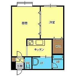 北海道札幌市厚別区大谷地東5丁目の賃貸マンションの間取り