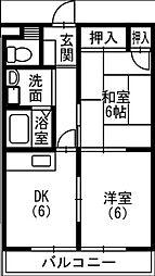 サンシャルム佐藤町[407号室]の間取り