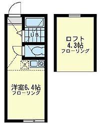 ピッコロカーサ ユナイト[1階]の間取り