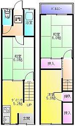 [一戸建] 大阪府東大阪市大蓮南2丁目 の賃貸【大阪府 / 東大阪市】の間取り