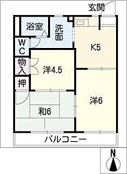 ファミール木戸[1階]の間取り