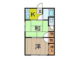 幸谷荘[105号室]の間取り