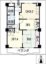 パラサンピアIII[4階]の間取り