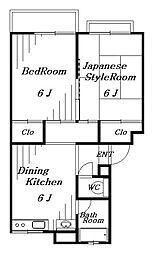 コスモ花澤[2階]の間取り