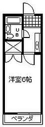 愛知県安城市高棚町大道の賃貸アパートの間取り