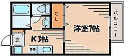 広島県広島市東区牛田旭2丁目の賃貸アパートの間取り