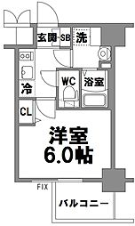 エスリード新大阪グランファースト[809号室]の間取り