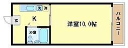 西本町マンション[7階]の間取り