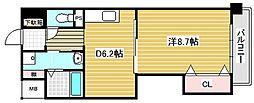 大阪府吹田市岸部南2丁目の賃貸マンションの間取り