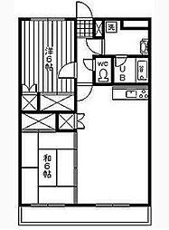 メゾン・ド・亜樹[2階]の間取り