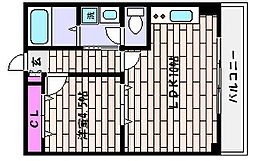 兵庫県神戸市東灘区住吉南町2丁目の賃貸マンションの間取り