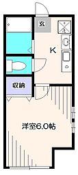 埼玉県新座市栗原1丁目の賃貸アパートの間取り