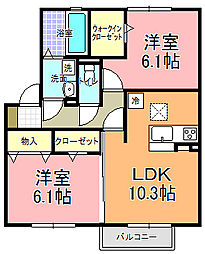 仮)D−room寄井 O[102号室]の間取り