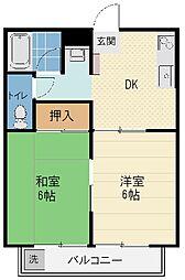 YAMAZAKI 3[202号室]の間取り