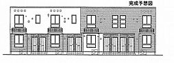 トライブC[2階]の外観
