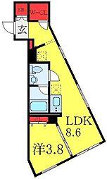 東武東上線 大山駅 徒歩6分の賃貸マンション 1階1LDKの間取り