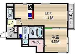 モン・シェモワ[3階]の間取り