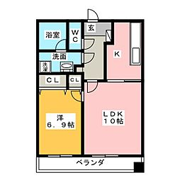 アパルトメント栄5[3階]の間取り