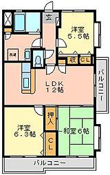 プレステージ和白V[5階]の間取り