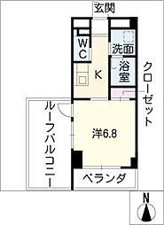 星ヶ丘リビング[6階]の間取り