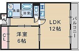 Liberte豊中本町[3階]の間取り
