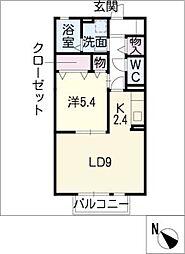 グランドールコート B棟[2階]の間取り