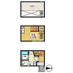 ラ・ルーチェ鶴田[2階]の間取り