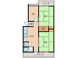 緑ヶ丘ハイツ[2階]の間取り