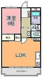 栄町KUNOビル[406号室]の間取り