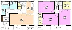 [テラスハウス] 長野県松本市野溝西2丁目 の賃貸【長野県/松本市】の間取り