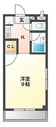 愛知県名古屋市中村区宿跡町3の賃貸マンションの間取り