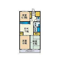 スカイヒル山崎[5階]の間取り