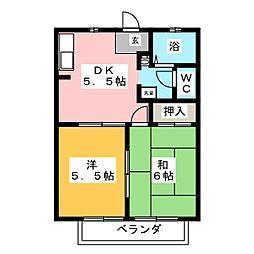 シーダー多加木[2階]の間取り