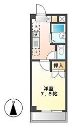 グローバル横堀[4階]の間取り