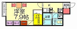 福岡県糟屋郡須惠町大字須惠の賃貸アパートの間取り