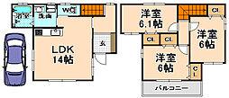 [一戸建] 兵庫県伊丹市千僧2丁目 の賃貸【/】の間取り