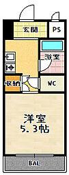 プルミエール勧修寺[207号室]の間取り