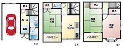 [テラスハウス] 大阪府八尾市老原5丁目 の賃貸【大阪府 / 八尾市】の間取り