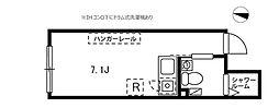 プロト大岡山 2階ワンルームの間取り