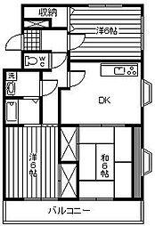 アトリオ城ケ崎[101号室]の間取り
