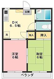 フォーブル鎌田[2階]の間取り